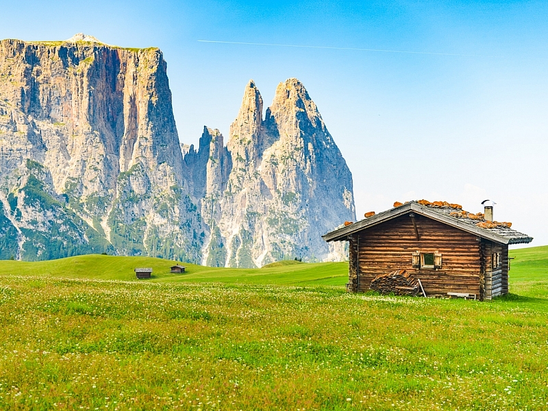 Italy-South Tyrol-Dolomites-Seiser-Alm
