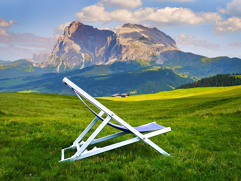 Italy-South Tyrol-Dolomites-Chair